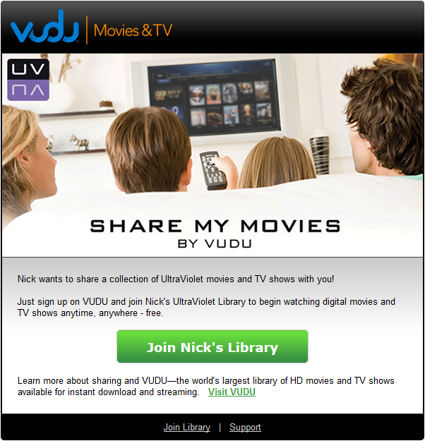 VUDU Library Invitation